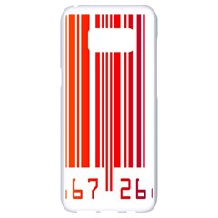 Colorful Gradient Barcode Samsung Galaxy S8 White Seamless Case
