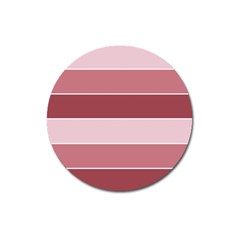 Striped Shapes Wide Stripes Horizontal Geometric Magnet 3  (round)