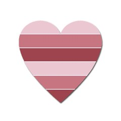 Striped Shapes Wide Stripes Horizontal Geometric Heart Magnet