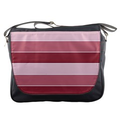 Striped Shapes Wide Stripes Horizontal Geometric Messenger Bag