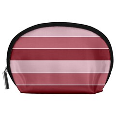 Striped Shapes Wide Stripes Horizontal Geometric Accessory Pouch (large) by Samandel