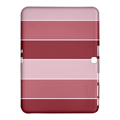 Striped Shapes Wide Stripes Horizontal Geometric Samsung Galaxy Tab 4 (10 1 ) Hardshell Case  by Samandel