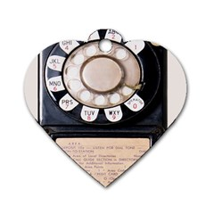 Vintage Payphone Dog Tag Heart (two Sides)