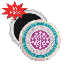 Mandala Design Arts Indian 2 25  Magnets (10 Pack)  by Samandel