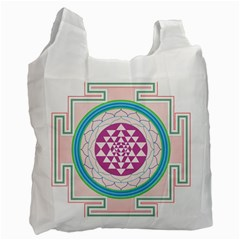Mandala Design Arts Indian Recycle Bag (two Side) by Samandel