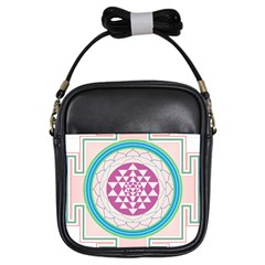 Mandala Design Arts Indian Girls Sling Bag