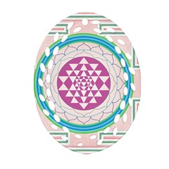 Mandala Design Arts Indian Oval Filigree Ornament (two Sides)