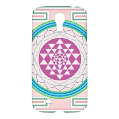 Mandala Design Arts Indian Samsung Galaxy S4 I9500/i9505 Hardshell Case by Samandel