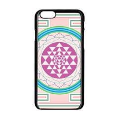 Mandala Design Arts Indian Apple Iphone 6/6s Black Enamel Case