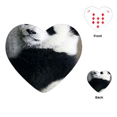 Panda Bear Sleeping Playing Cards (heart) by Samandel