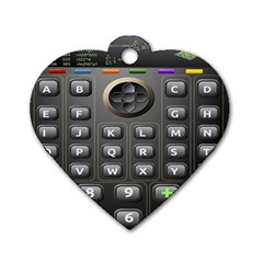 Scientific Solar Calculator Dog Tag Heart (two Sides)