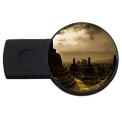 Borobudur Temple  Indonesia Usb Flash Drive Round (4 Gb)