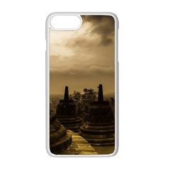 Borobudur Temple  Indonesia Apple Iphone 8 Plus Seamless Case (white)