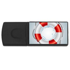 Spare Tire Icon Vector Rectangular Usb Flash Drive