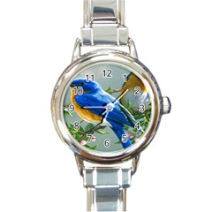 Loving Birds Round Italian Charm Watch