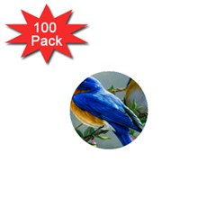 Loving Birds 1  Mini Buttons (100 Pack)  by Samandel