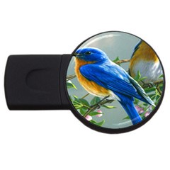 Loving Birds Usb Flash Drive Round (4 Gb)