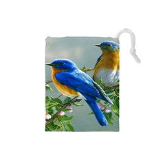 Loving Birds Drawstring Pouch (small)