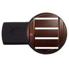 Minimalis Brown Door Usb Flash Drive Round (2 Gb)