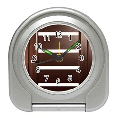 Minimalis Brown Door Travel Alarm Clock