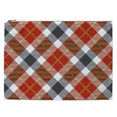 Smart Plaid Warm Colors Cosmetic Bag (xxl) by ImpressiveMoments