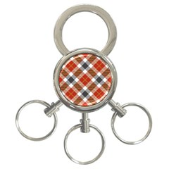 Smart Plaid Warm Colors 3-ring Key Chains by ImpressiveMoments