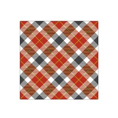 Smart Plaid Warm Colors Satin Bandana Scarf by ImpressiveMoments