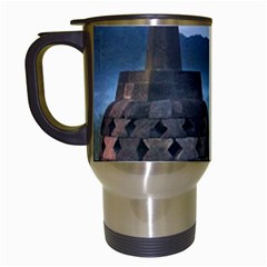 Borobudur Temple  Morning Serenade Travel Mugs (white)