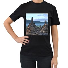 Borobudur Temple  Morning Serenade Women s T Shirt (black)