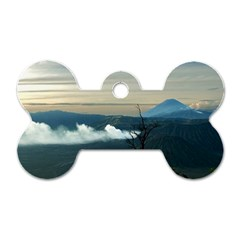 Bromo Caldera De Tenegger  Indonesia Dog Tag Bone (one Side)