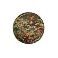 Colorful The Beautiful Of Art Indonesian Batik Pattern Hat Clip Ball Marker (4 Pack) by Samandel