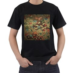 Colorful The Beautiful Of Art Indonesian Batik Pattern Men s T Shirt (black)