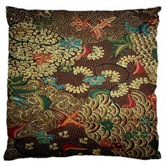 Colorful The Beautiful Of Art Indonesian Batik Pattern Large Cushion Case (two Sides)