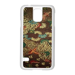 Colorful The Beautiful Of Art Indonesian Batik Pattern Samsung Galaxy S5 Case (white)