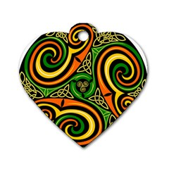 Celtic Celts Circle Color Colors Dog Tag Heart (two Sides)