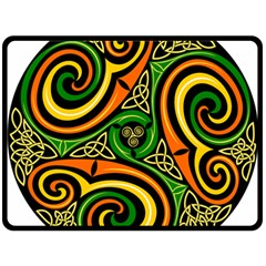 Celtic Celts Circle Color Colors Fleece Blanket (large)