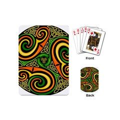 Celtic Celts Circle Color Colors Playing Cards (mini) by Samandel