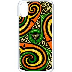 Celtic Celts Circle Color Colors Apple Iphone X Seamless Case (white) by Samandel