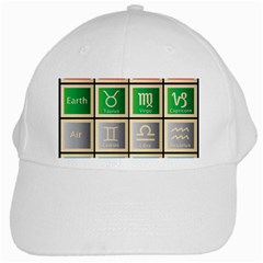 Set Of The Twelve Signs Of The Zodiac Astrology Birth Symbols White Cap