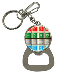 Set Of The Twelve Signs Of The Zodiac Astrology Birth Symbols Bottle Opener Key Chains