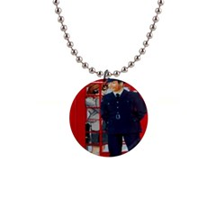 Red London Phone Boxes Button Necklaces