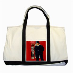 Red London Phone Boxes Two Tone Tote Bag