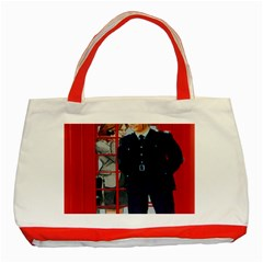 Red London Phone Boxes Classic Tote Bag (red)