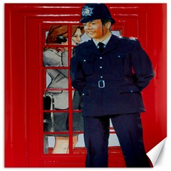 Red London Phone Boxes Canvas 12  X 12