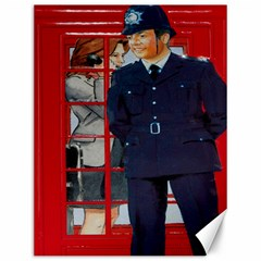 Red London Phone Boxes Canvas 12  X 16