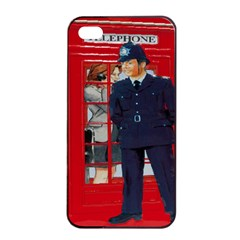 Red London Phone Boxes Apple Iphone 4/4s Seamless Case (black)