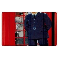 Red London Phone Boxes Apple Ipad 3/4 Flip Case by Samandel
