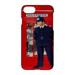 Red London Phone Boxes Apple Iphone 8 Hardshell Case
