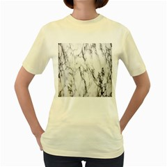 Marble Granite Pattern And Texture Women s Yellow T Shirt