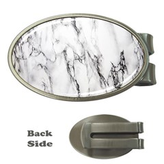 Marble Granite Pattern And Texture Money Clips (oval)  by Samandel